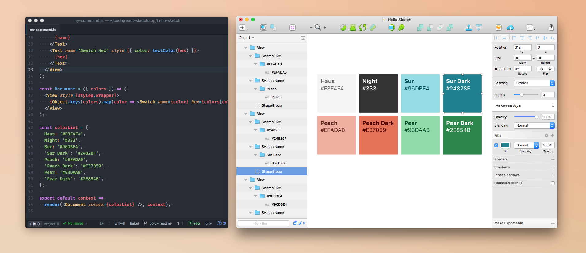 渲染 React 组件到 Sketch 的开源库 React Sketch.app