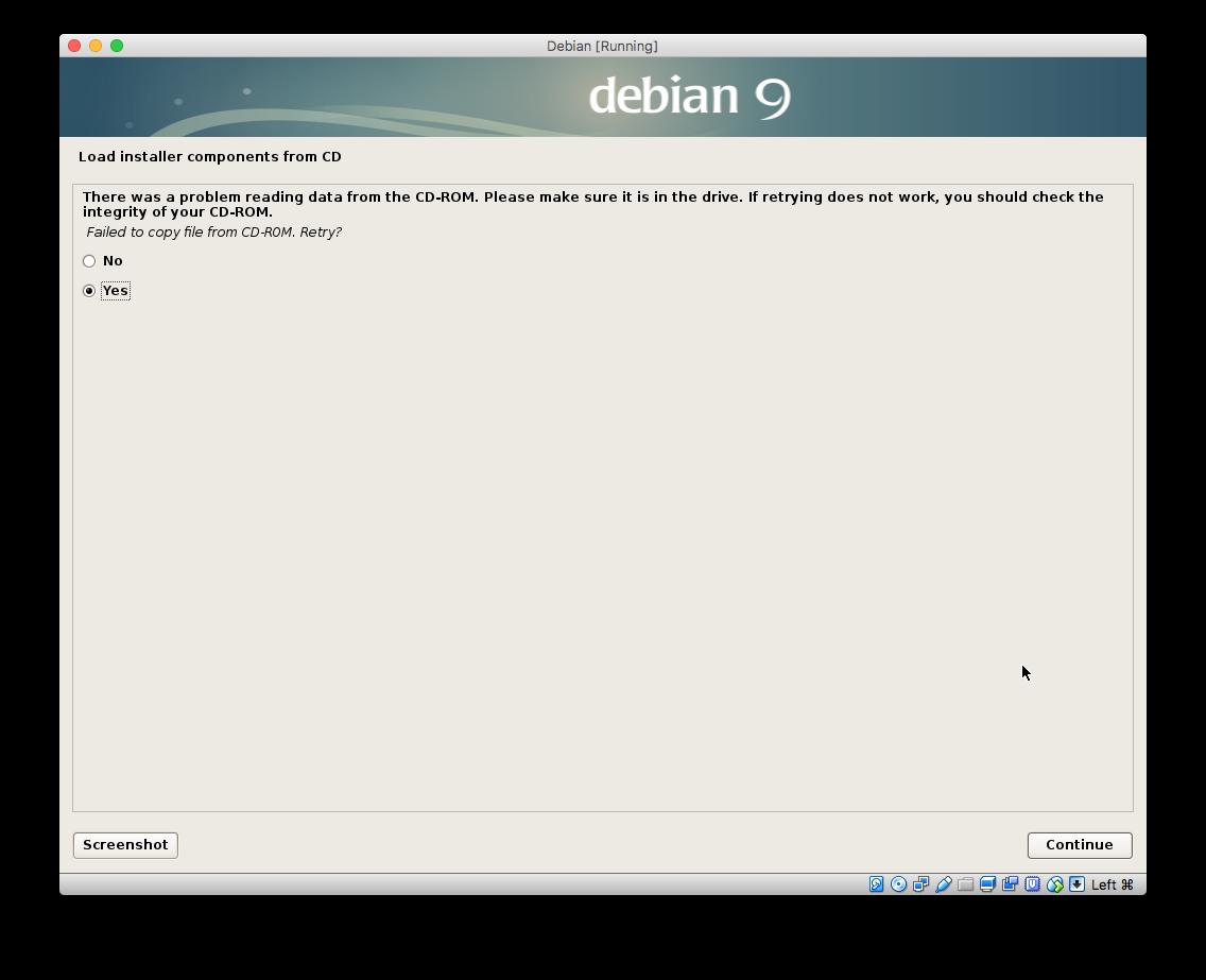 Debian 9 图形界面安装有bug  开发人员正在修复