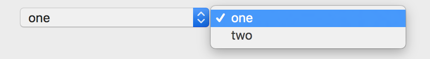 OS X开发:下拉菜单按钮NSPopUpButton应用...