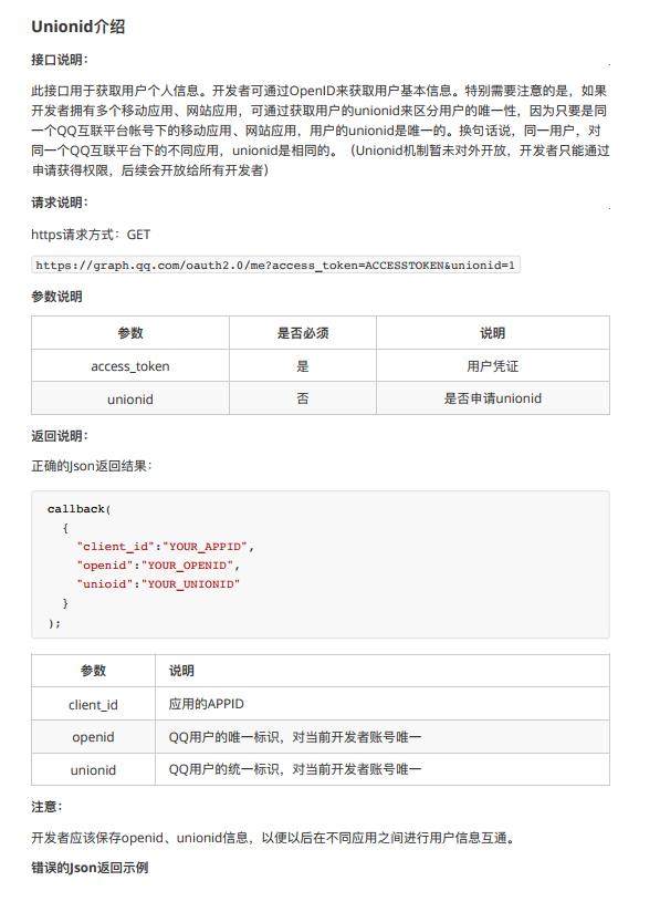 QQ互联第三方登录多应用用户登录打通