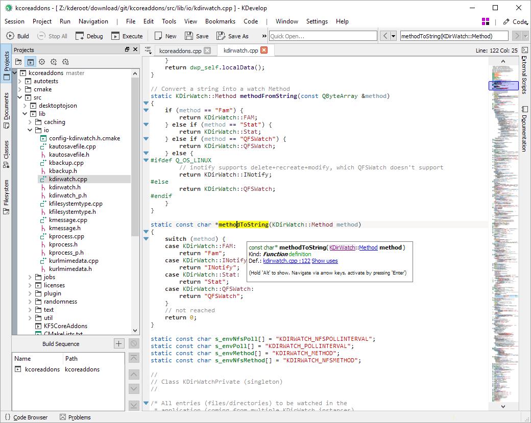 跨平台集成开发环境KDevelop 5.4.6