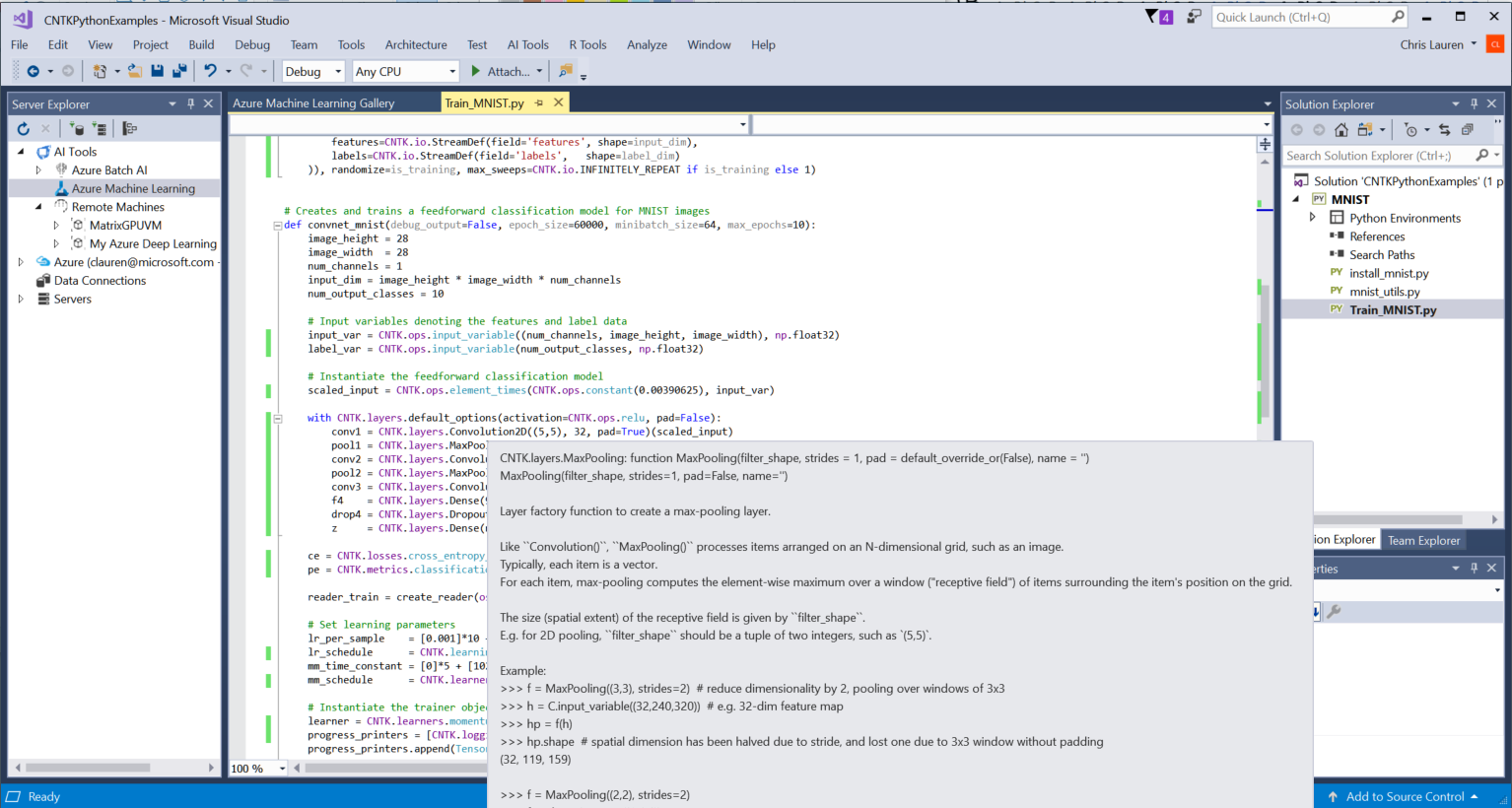 Visual Studio 的 AI 集成开发套件 Visual Studio Tools for AI