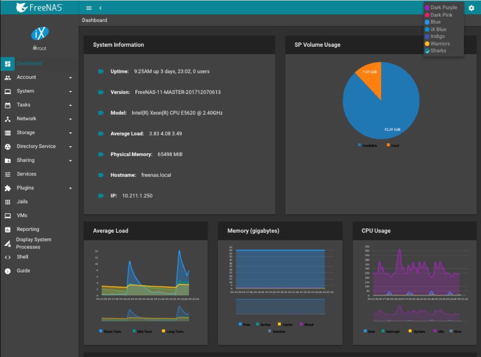 FreeNAS 11.1 发布,带来更好的性能改进和云集成