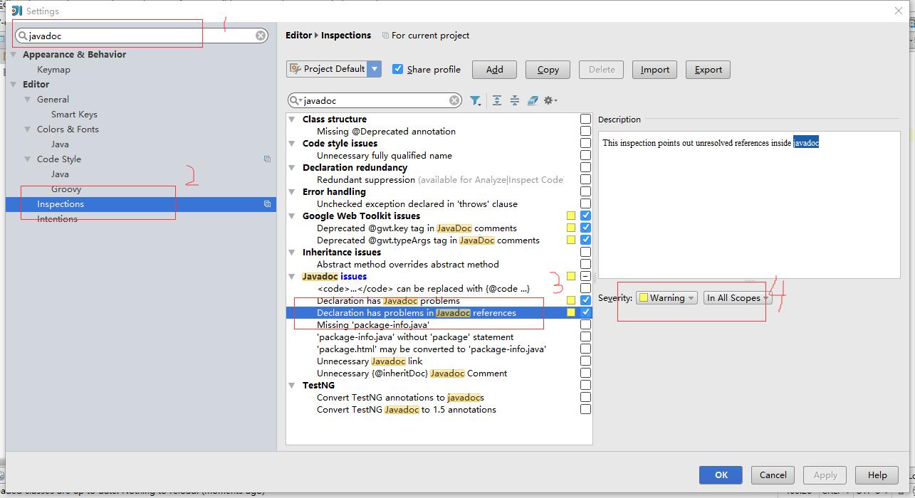 IntelliJ IDEA中设置忽略@param注释中的参数与方...