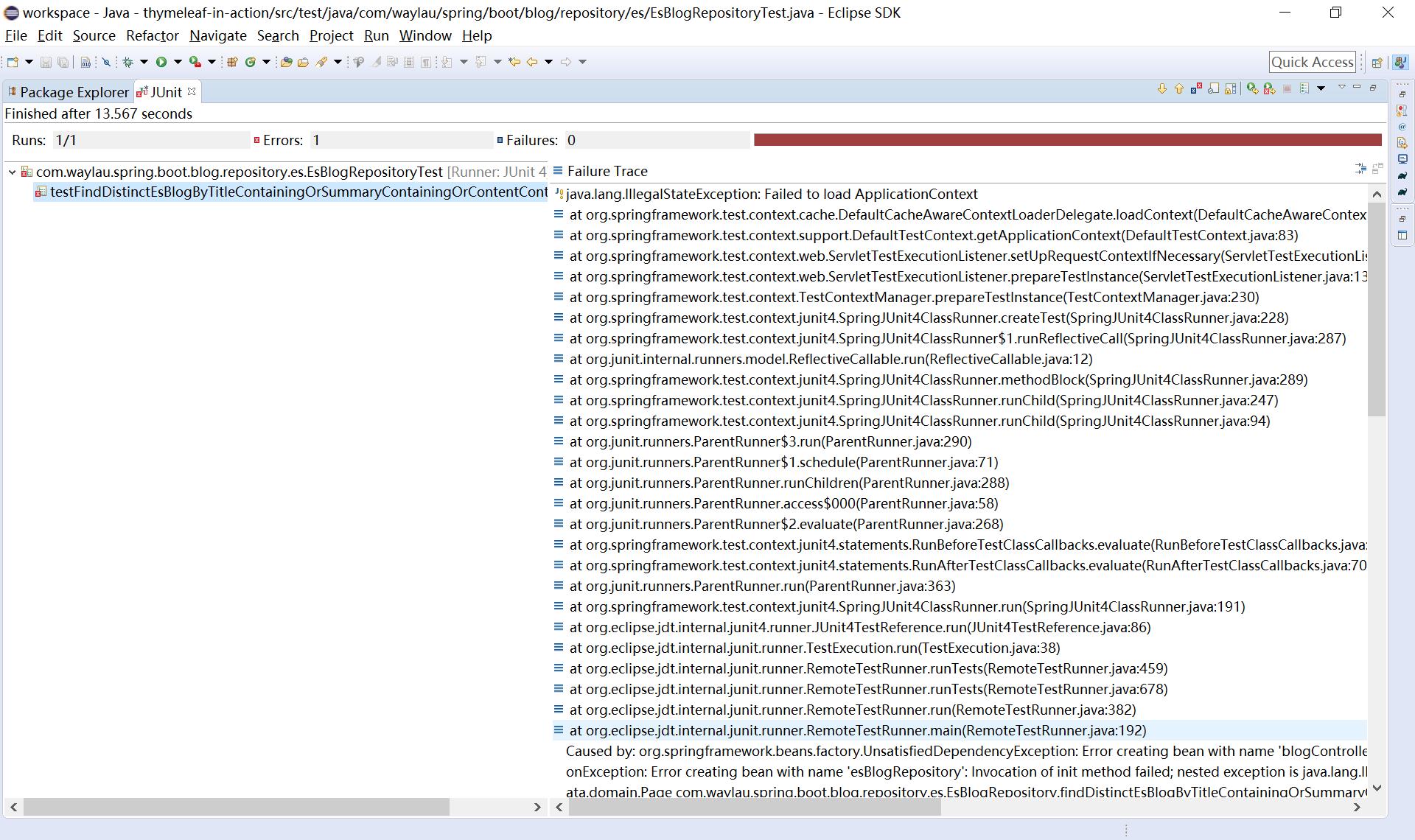Elasticsearch测试失败 - OSCHINA