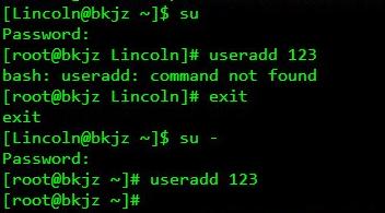 Linux下su与su -命令的本质区别