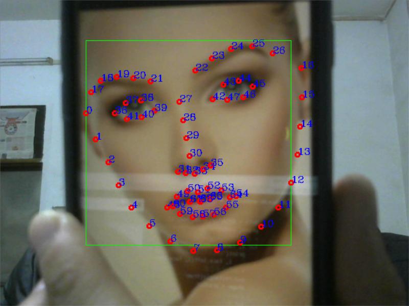OpenCV+Dlib实现人脸68个特征点检测