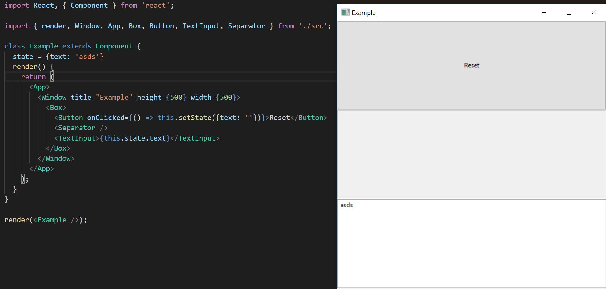 开发跨平台原生桌面应用的 React 环境 Proton Native