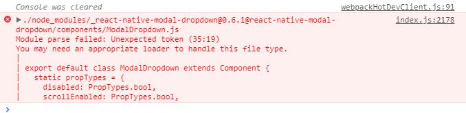 关于react-native-modal-dropdown安装引入报错,求大神帮忙解决