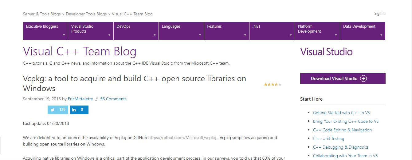 微软C++ 库管理器Vcpkg 现可用于Linux 和MacOS - OSCHINA