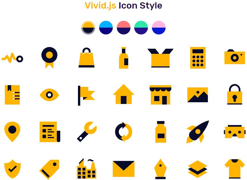 开源 SVG 图标库 Vivid.js