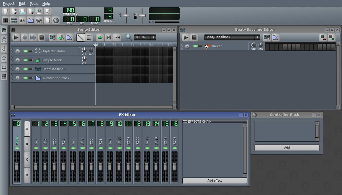 FL Studio 不是不可代替 你试下免费的lmms