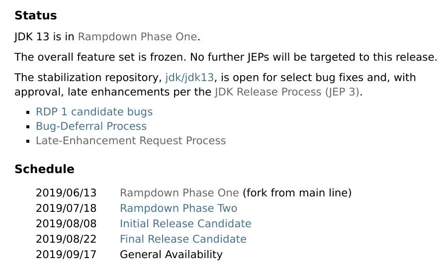 Java 13 进入 RDP 1,新特性有哪些?A