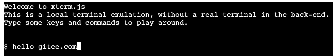 前端终端组件 Xterm.js