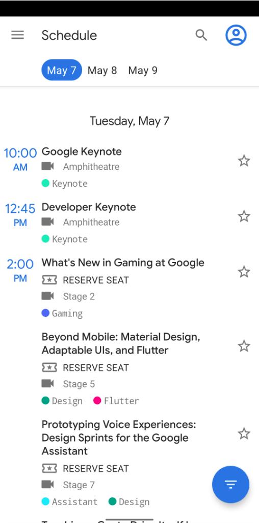 Google I/O 2019 大会上的 Android 应用 Google I/O 2019 Android App