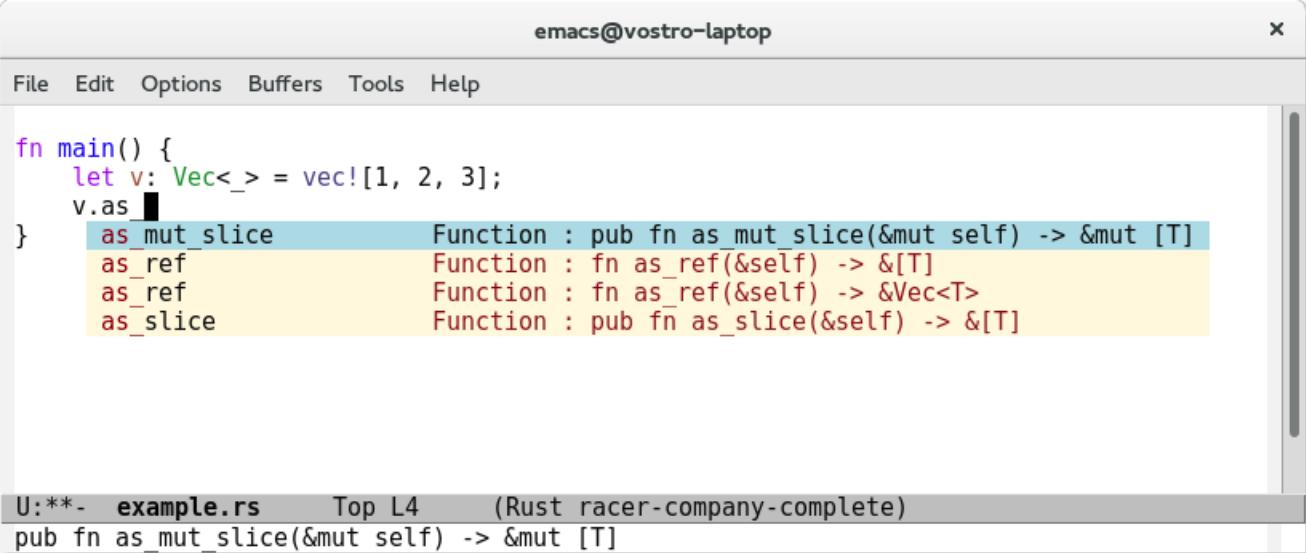 Rust 代码补全程序 Racer Rust