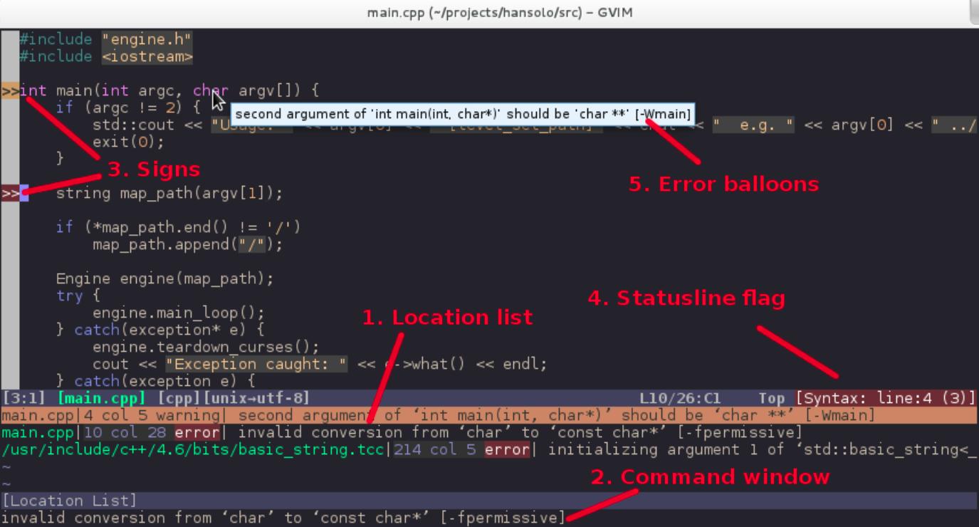 Vim 的语法检查插件 Syntastic