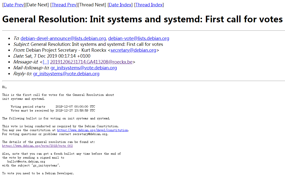 Debian 正在投票是否支持非 systemd 初始化系统