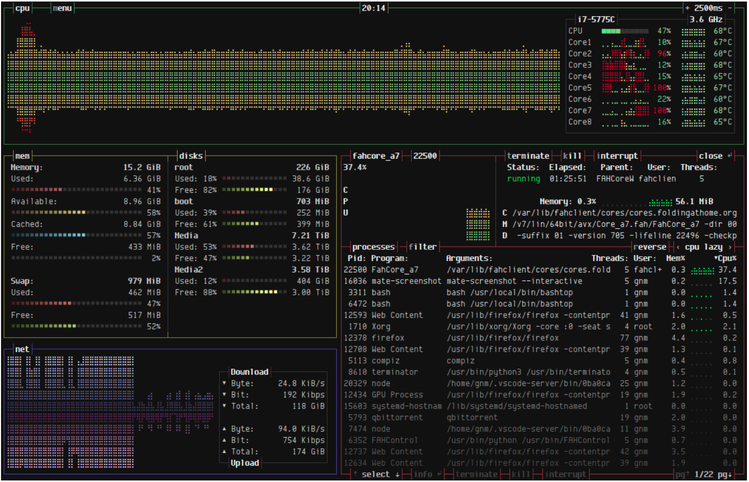 Linux 资源监视器 bashtop