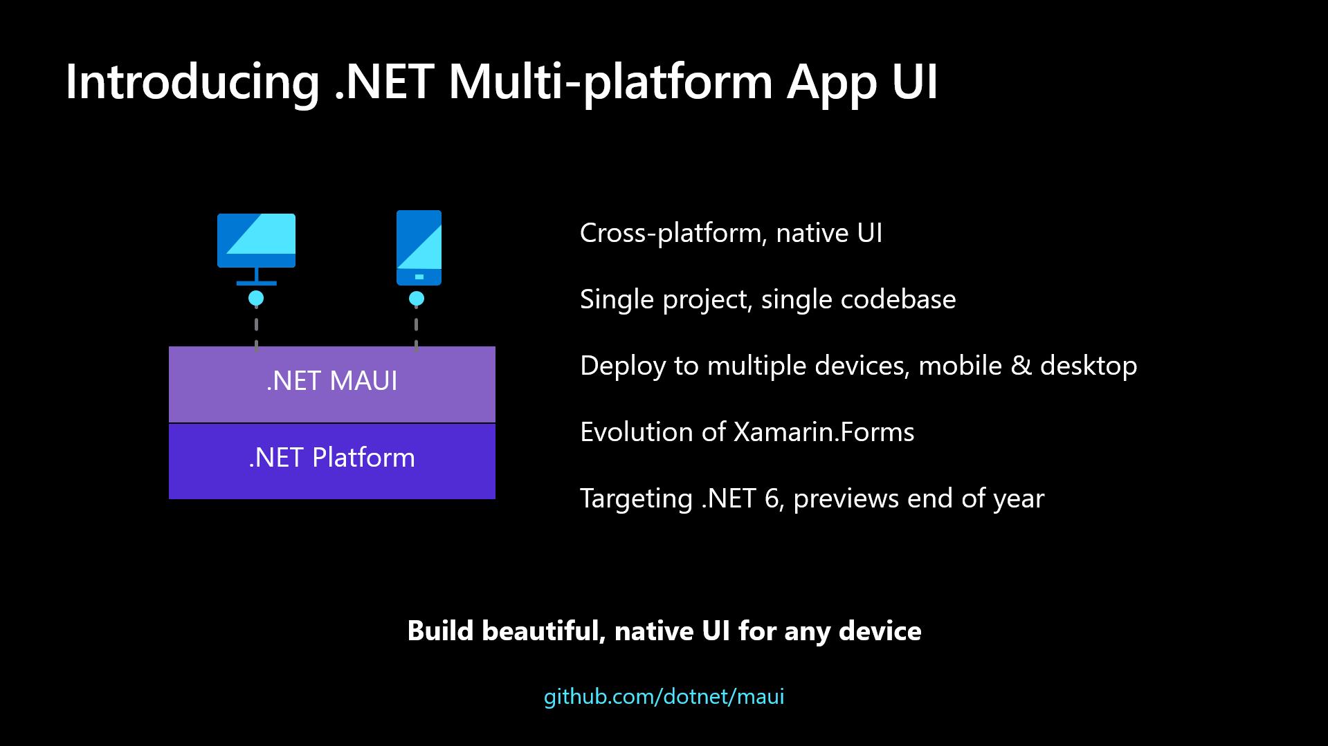 .NET 跨平台 UI 框架 .NET MAUI