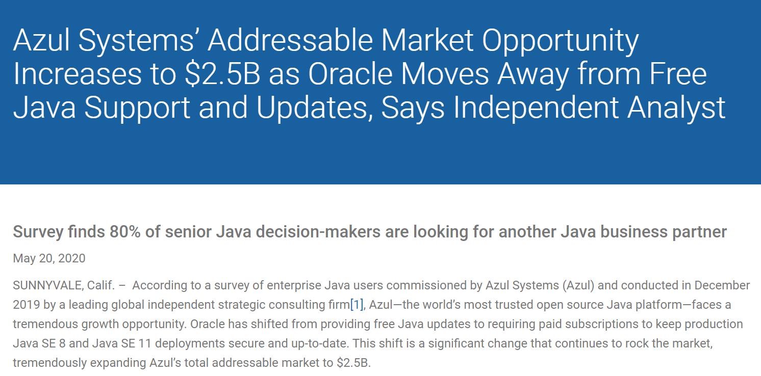 80% 的 Oracle JDK 用户正在考虑其他支持选项插图