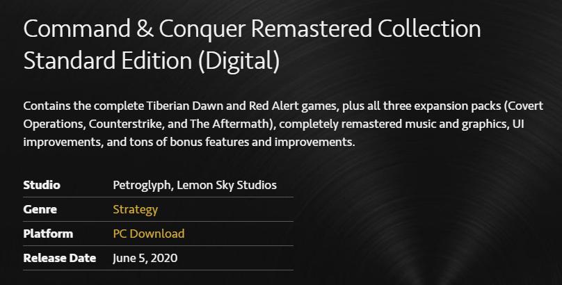 EA 发布《命令与征服》重制版及公开游戏源代码插图