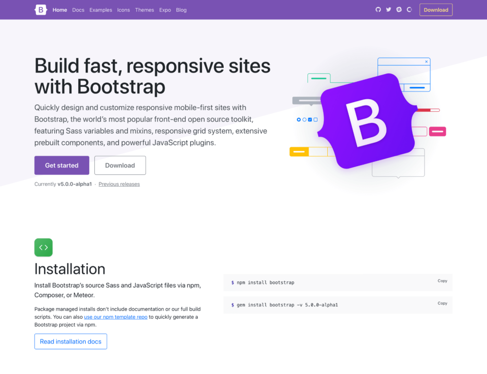前端框架:Bootstrap 5.0 alpha