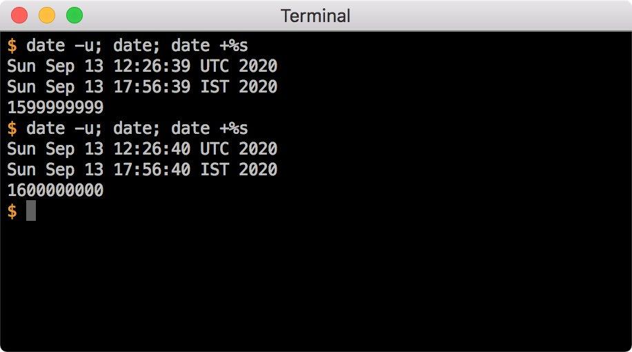 UNIX 时间 16 亿秒纪念