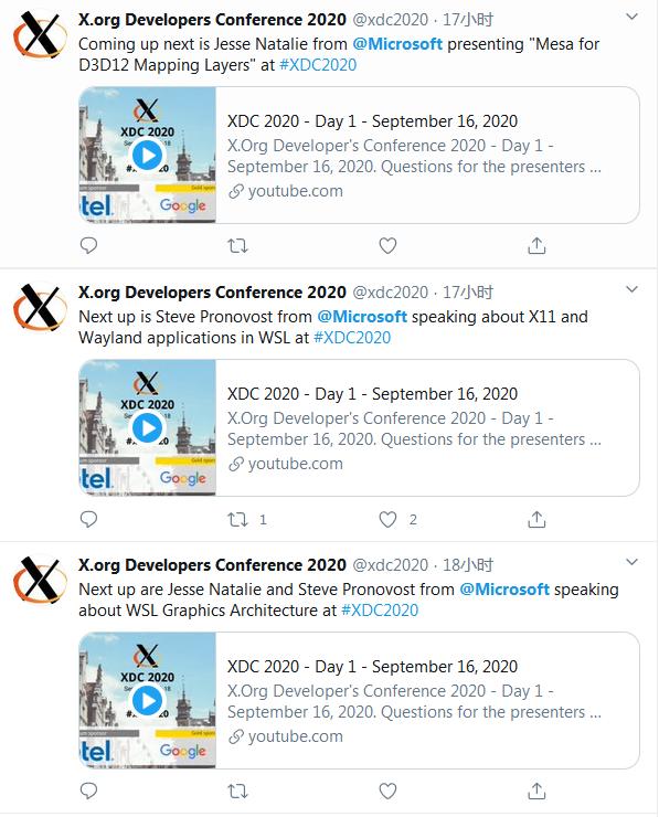 """微软在 X.Org 开发者大会""""三连""""演讲"""