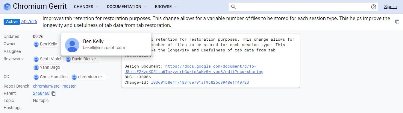 微软改进 Chromium 标签页恢复功能