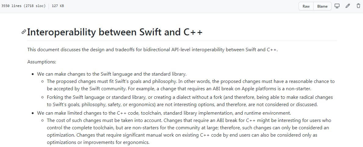 Swift 与 C++ 互操作性的讨论