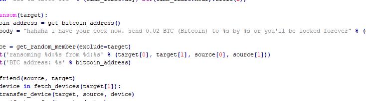 黑客使用勒索软件攻击智能情趣用品