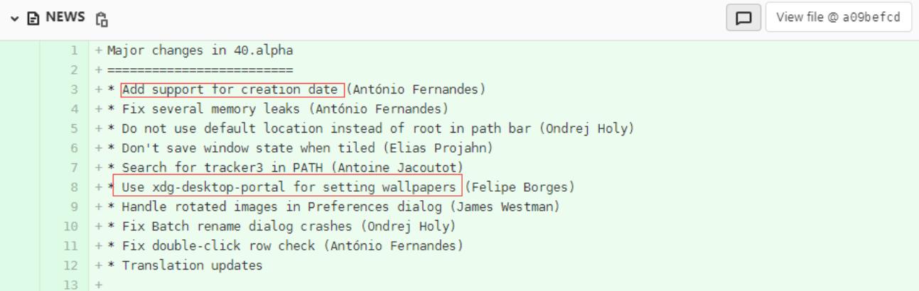 GNOME 40 将支持文件创建时间和墙纸预览