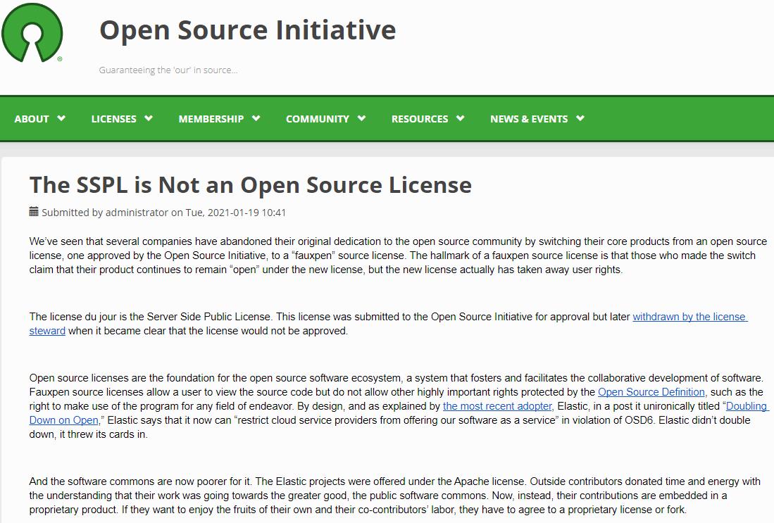 "AWS 宣布创建""真正""开源的 Elasticsearch 分支"