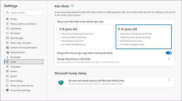 前瞻:Edge 浏览器引入 Kids Mode,防止儿童访问不良网站