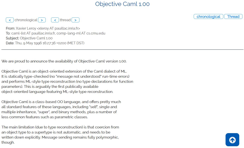 OCaml 诞生 25 周年