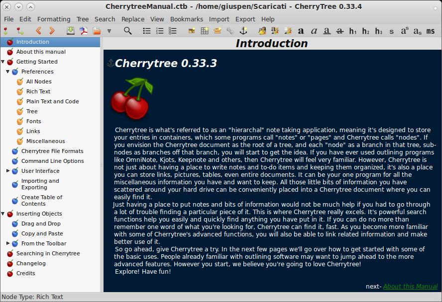 程序员笔记 CherryTree 0.99.39 发布