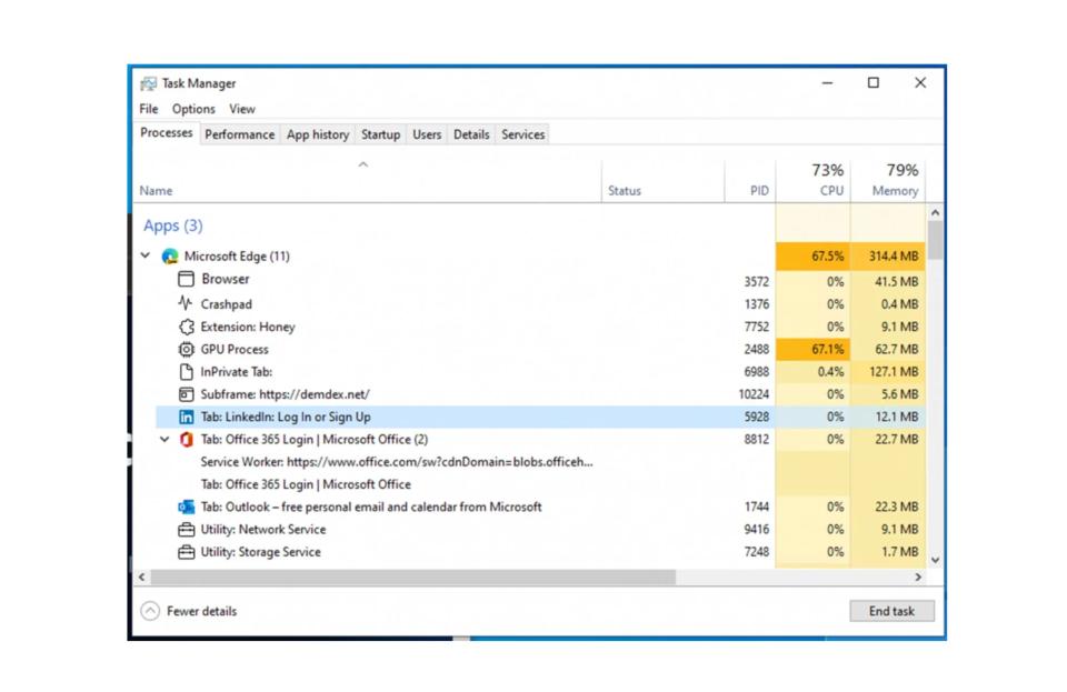 微软改进 Edge 浏览器在 Windows 11 任务管理器中的展现方式
